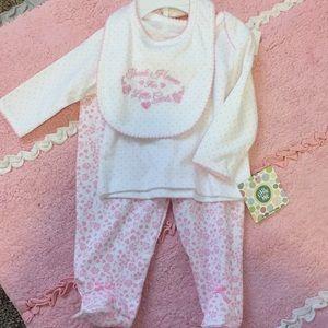 Little Me baby girl 3pc set. NWT.